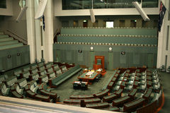 House of Representatives Canberra Australia. Taken from an upper balcony stock image