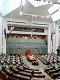 House of representatives @ Canberra Australia. The House of Representatives is one of the two houses of Australia's Commonwealth Parliament. There are 150 Stock Photo