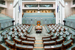 The House of Representatives. CANBERRA, AUSTRALIA - MAR 25, 2016: Interior view of  the House of Representatives in Parliament House, Canberra, Australia Royalty Free Stock Photo