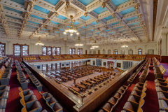 House of Representatives chamber. From the balcony of the Texas State Capitol building in Austin, Texas Stock Photography