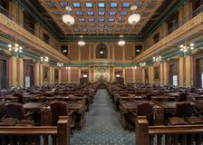 House of Representatives chamber. In the Michigan State Capitol at 100 N Capitol Avenue in Lansing,  Michigan Stock Photo