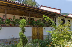 House for reside of monks in the  Batkun Monastery Stock Photo