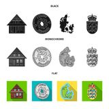 House, residential, style, and other web icon in black, flat, monochrome style. Country, Denmark, sea, icons in set. House, residential, style, and other  icon Stock Photos