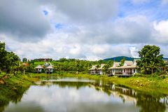 House in resort. Lot of house in resort Thailand Royalty Free Stock Images