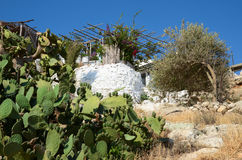 House in Rethymnon . Crete, Greece. Stock Photos
