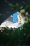 House on Rhodes island beach Stock Photos