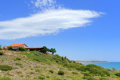 House of the Rhodos island. Beautiful house of the Rhodos island, Greece stock photography