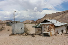 House in Rhyolite. Historic bottle house in the ghost town Rhyolite Royalty Free Stock Images