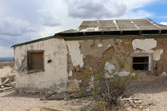 House in Rhyolite. Historic bottle house in the ghost town Rhyolite Stock Photo
