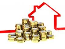 House ribbon and euro money Stock Photography