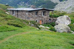 House in the Rila Mountains in Bulgaria Royalty Free Stock Photos
