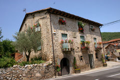 House in Rioja. Beautiful house in Rioja mountains (Spain stock image