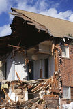 House ripped apart Stock Image