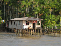 House in river Royalty Free Stock Images