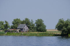 House by the river. Fisherman's House by the river Royalty Free Stock Photography