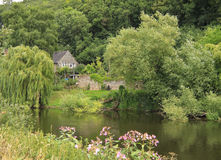 House by river royalty free stock photo