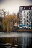 House and river in Berlin Stock Images