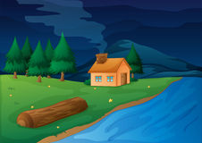 House and river Royalty Free Stock Image