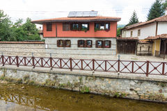 House and river in Koprivshtitsa, Bulgaria stock photography
