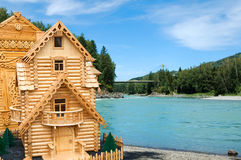 House on river Royalty Free Stock Image