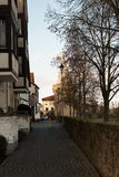 Between house and river. Seligenstadt Stock Photography