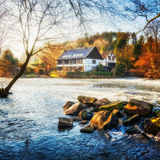 House on the river Royalty Free Stock Photography