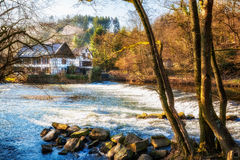 House on the river Stock Image