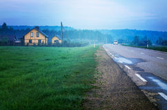 House by road Stock Image