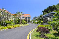 House and road of resorts Royalty Free Stock Photo