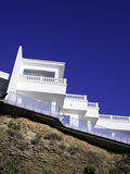 House on the rock. Modern white villa on the cliff Royalty Free Stock Photos