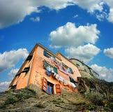 House on rocks in village Of Manarola stock image