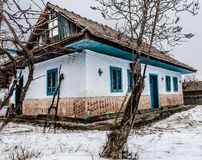 House. Romanian old traditional country house stock photo