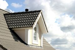 House roof. American style house Royalty Free Stock Image