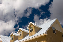 House roof. Under cloudy skies Stock Photography