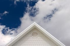 House roof. Under cloudy skies Royalty Free Stock Photography