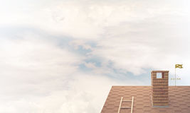 House roof as concept of suburbian real estate and construction. Royalty Free Stock Photos