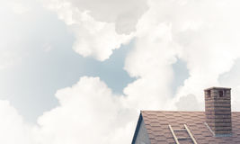 House roof as concept of suburbian real estate and construction. Stock Images