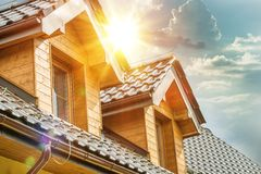 House Roof Attic Windows Royalty Free Stock Photo