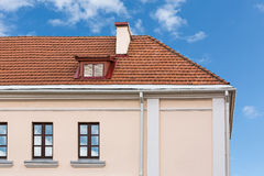 House roof with chimneys and dormer Stock Photography
