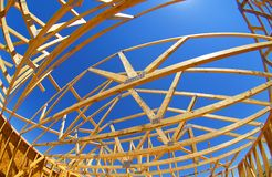 House Roof Construction. A new home under construction Stock Photography