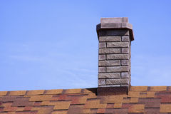 House roof covered with a bitumen tile Royalty Free Stock Photo