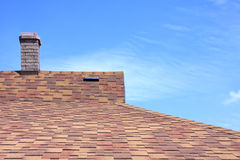 House roof covered with a bitumen tile royalty free stock photos