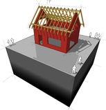 House/roof framework diagram Royalty Free Stock Image