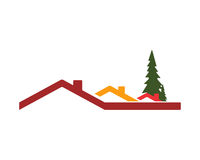 House roof stock illustration