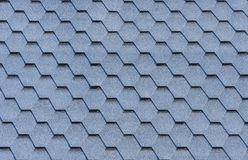 House roof hexagonal tile coverage texture. Royalty Free Stock Photography