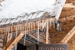 House roof icicles Stock Image