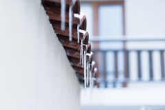 House roof icicles Stock Images