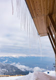 House roof icicles Stock Photography