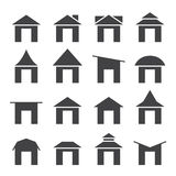 House  and roof icon set Royalty Free Stock Images