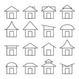 House  and roof icon set Stock Image